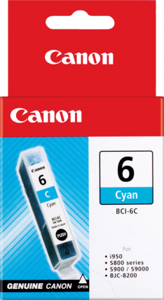 Canon BCI-6PC Photo Cyan Ink Tank - 100 pages - Out Of Ink