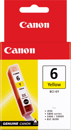 Canon BCI-6Y Yellow Ink Tank - 100 pages - Out Of Ink