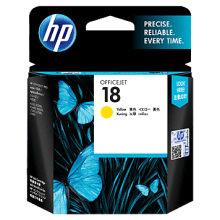 HP No.18 Yellow Ink Cartridge  - 900 pages - Out Of Ink