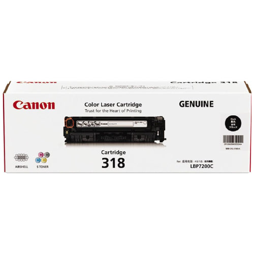 Canon CART318 Black Toner - 3,100 Pages - Out Of Ink