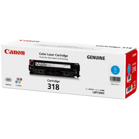 Canon CART318 Cyan Toner - 2,400 Pages - Out Of Ink