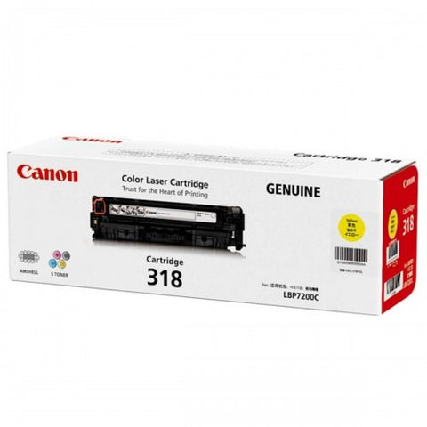 Canon CART318 Yellow Toner - 2,400 Pages - Out Of Ink
