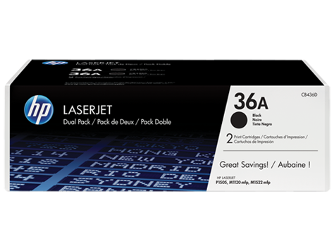 HP #36A Twin Pack (2x HP #36A Toner Cartridges) - Out Of Ink