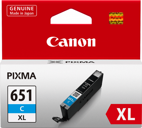 Canon CLI-651XL Cyan Ink Cartridge - 695 A4 pages - Out Of Ink