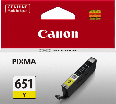 Canon CLI-651 Yellow Ink Cartridge - 344 A4 pages - Out Of Ink