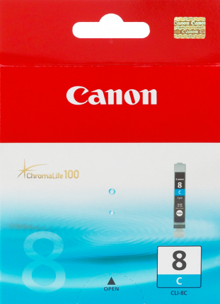 Canon CLI-8C Cyan Ink Tank - 62 pages - Out Of Ink