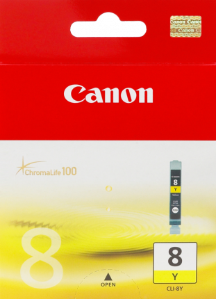 Canon CLI-8Y Yellow Ink Tank - 40 pages - Out Of Ink