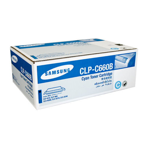 Samsung CLP-610 / CLP-660 / CLX-6210FX Cyan Toner Cartridge - 5,000 pages @ 5% - Out Of Ink