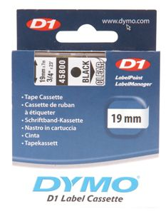 Dymo Black on Colour 19mmx7m Tape - Out Of Ink