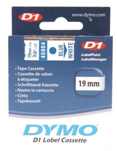 Dymo Blue on White 19mmx7m Tape - Out Of Ink