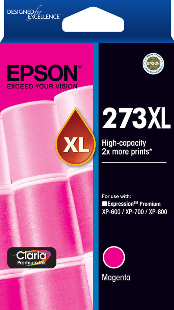 Epson 273 HY Magenta Ink Cartridge - 650 pages - Out Of Ink