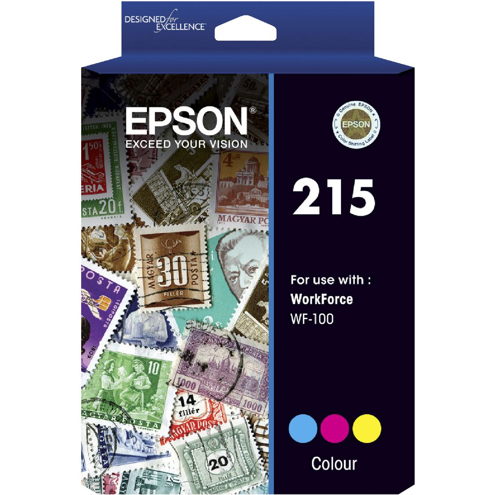 Epson 215 Colour Ink Cart - Out Of Ink