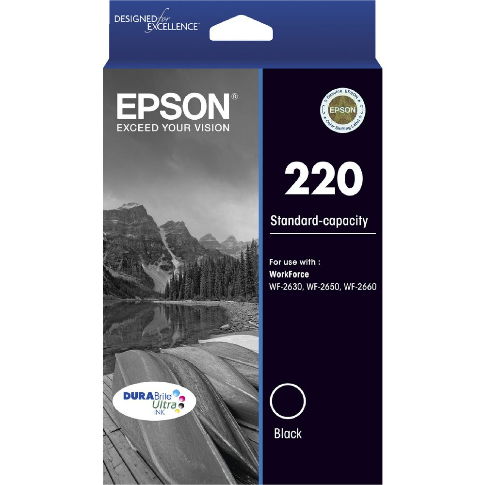 Epson 220 Black Ink Cartridge - Out Of Ink