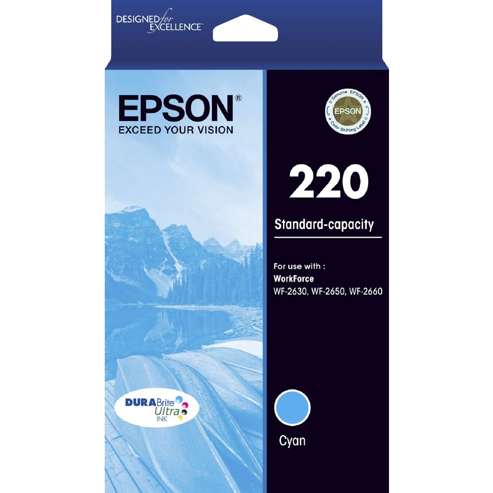 Epson 220 Cyan Ink Cartridge - Out Of Ink