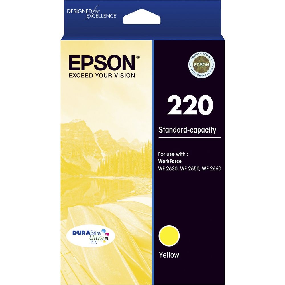 Epson 220 Yellow Ink Cartridge - Out Of Ink