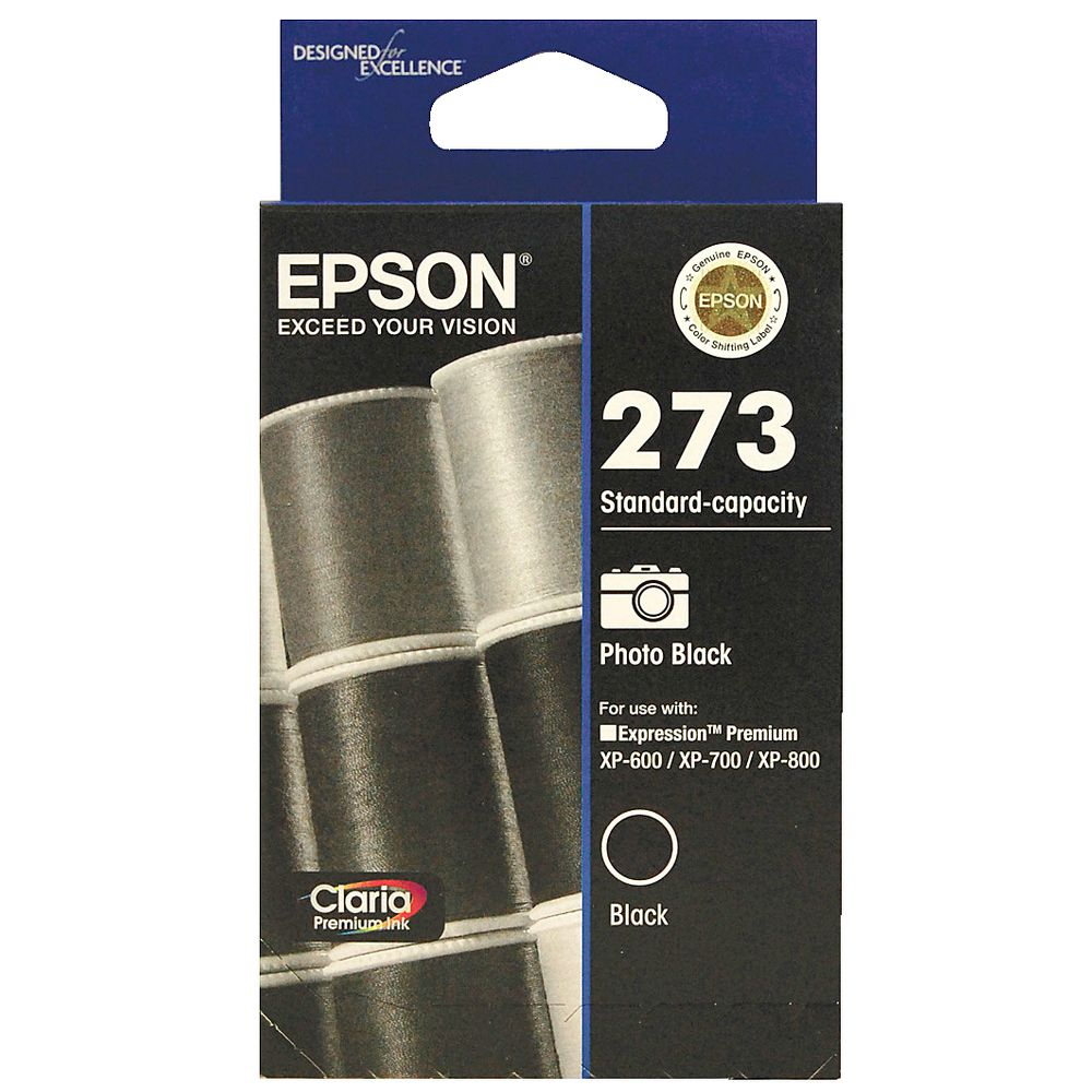 Epson 273 Photo Black Ink Cartridge - 250 pages - Out Of Ink
