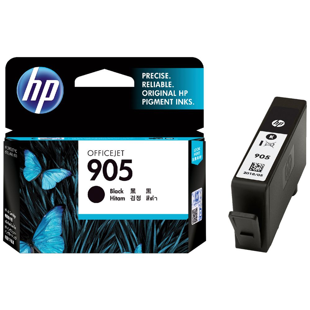 HP #905 Black Ink Cart T6M01AA - Out Of Ink
