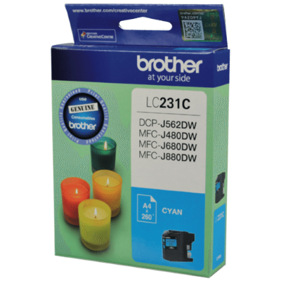 Brother LC231 Cyan Ink Cart - Out Of Ink