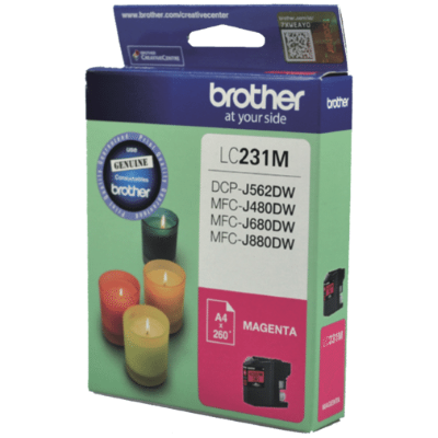 Brother LC231 Magenta Ink Cart - Out Of Ink