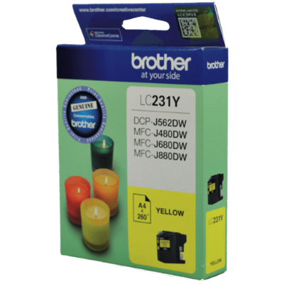 Brother LC231 Yellow Ink Cart - Out Of Ink