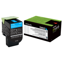 Lexmark 708HC HY Cyan Toner - Out Of Ink