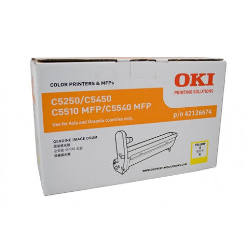 Oki C5250 / 5450 / 5510MFP / 5540MFP Yellow Drum Unit - 22,000 pages - Out Of Ink