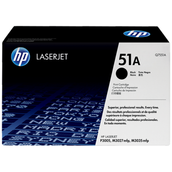 HP No.51A Toner Cartridge - 6,500 pages - Out Of Ink