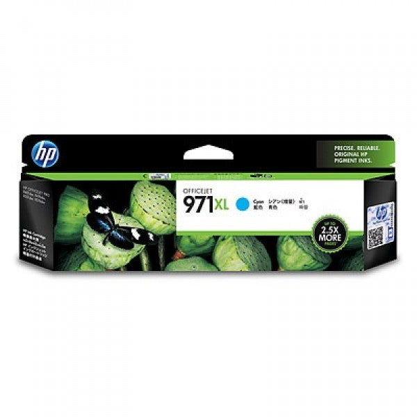 HP No. 971X Cyan Ink Cartridge - 6,600 pages - Out Of Ink