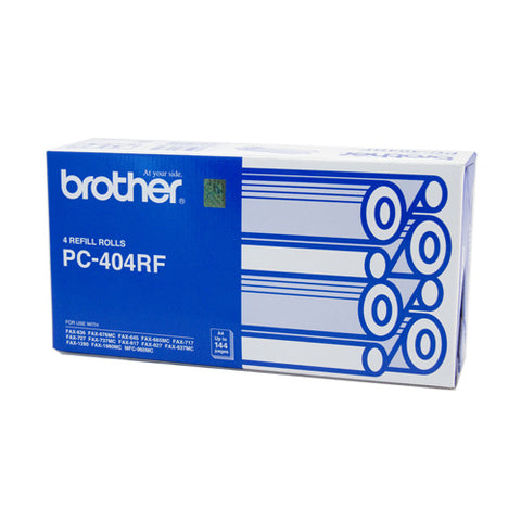 Brother PC-404 Print refill rolls x 4 - 144 pages - Out Of Ink