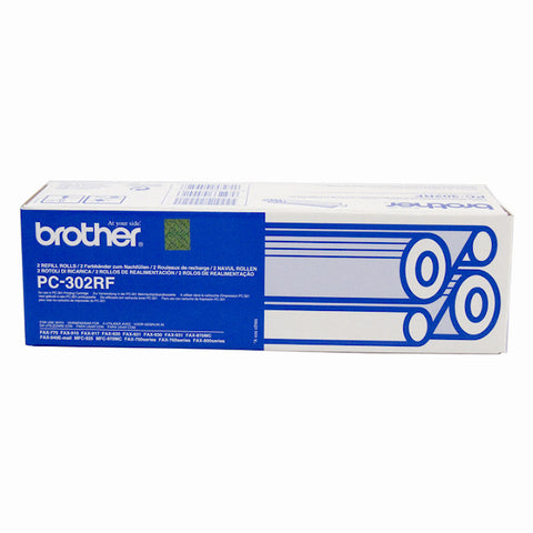 Brother PC-302 Print refill rolls x 2 - 235 pages - Out Of Ink