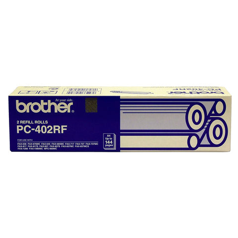 Brother PC-402 Print refill rolls x 2 - 144 pages - Out Of Ink
