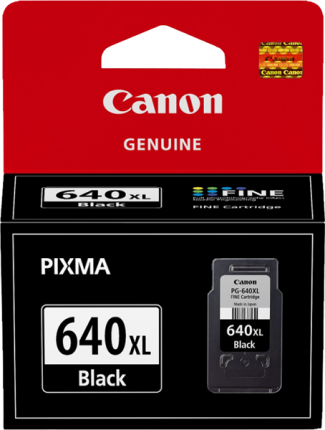 Canon PG640XL Black Ink Cartridge - 400 pages - Out Of Ink