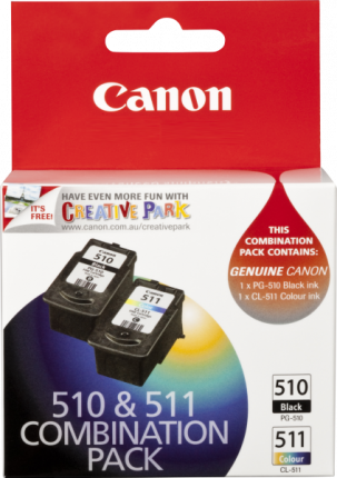 Canon PG-510 CL-511 Twin pack - Black 220 pages, Colour 244 pages - Out Of Ink