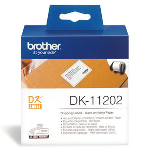 Brother DK11202 White Label - 62mm x 100mm - 300 per roll - Out Of Ink