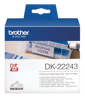 Brother DK22243 White Roll - Out Of Ink