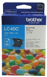 Brother LC-40C Cyan Ink Cartridge (300 pages) - Out Of Ink