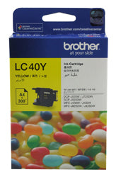 Brother LC-40Y Yellow Ink Cartridge (300 pages) - Out Of Ink
