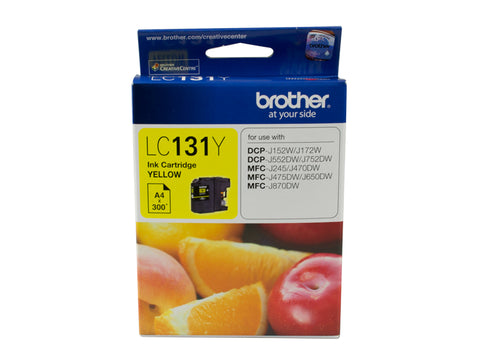 Brother LC131 Yellow Ink Cart - Out Of Ink