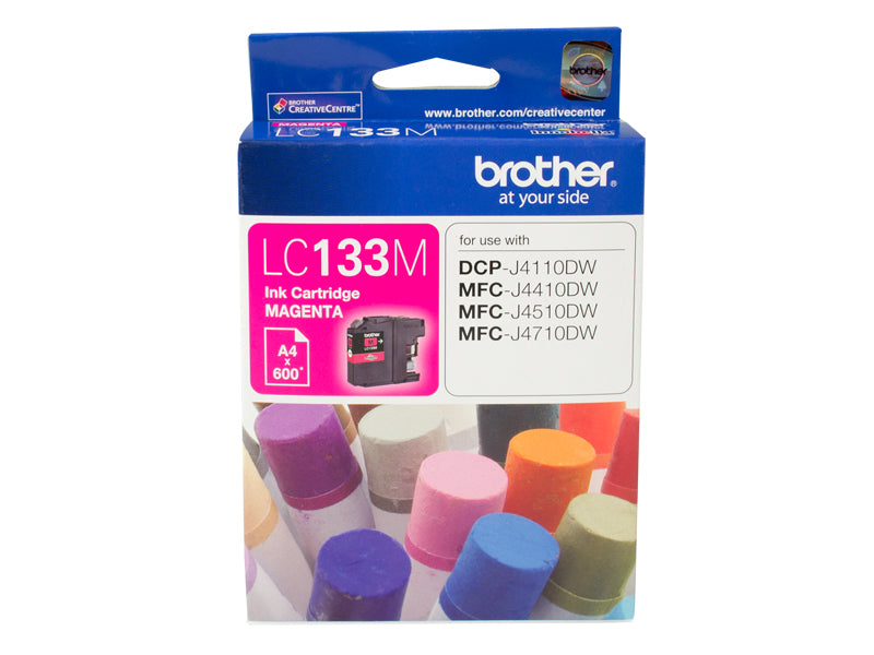 Brother LC133 Magenta Ink Cartridge - up to 600 pages - Out Of Ink