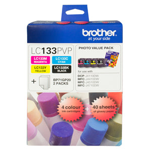 Brother LC133 Photo Value Pack - up to 600 pages per colour - Out Of Ink