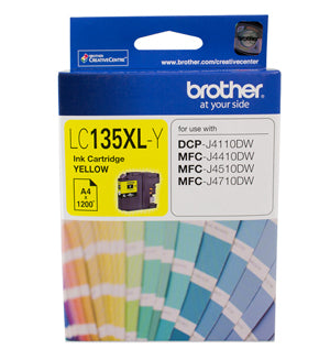 Brother LC135XL Yellow Ink Cartridge - up to 1200 pages - Out Of Ink