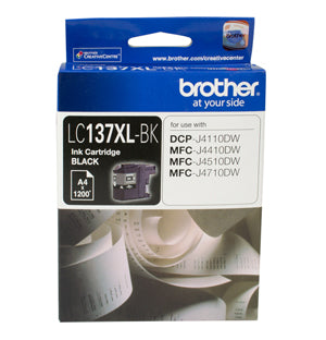Brother LC137XL Black Ink Cartridge - up to 1200 pages - Out Of Ink