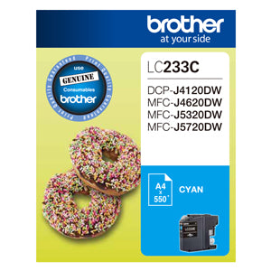 Brother LC233 Cyan Ink Cart - Out Of Ink