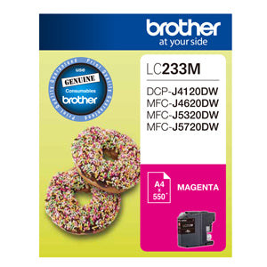 Brother LC233 Magenta Ink Cart - Out Of Ink