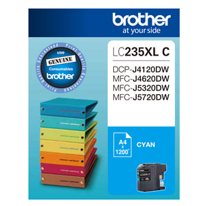 Brother LC235XL Cyan Ink Cart - Out Of Ink