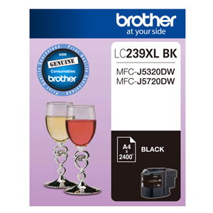 Brother LC239XL Black Ink Cart - Out Of Ink