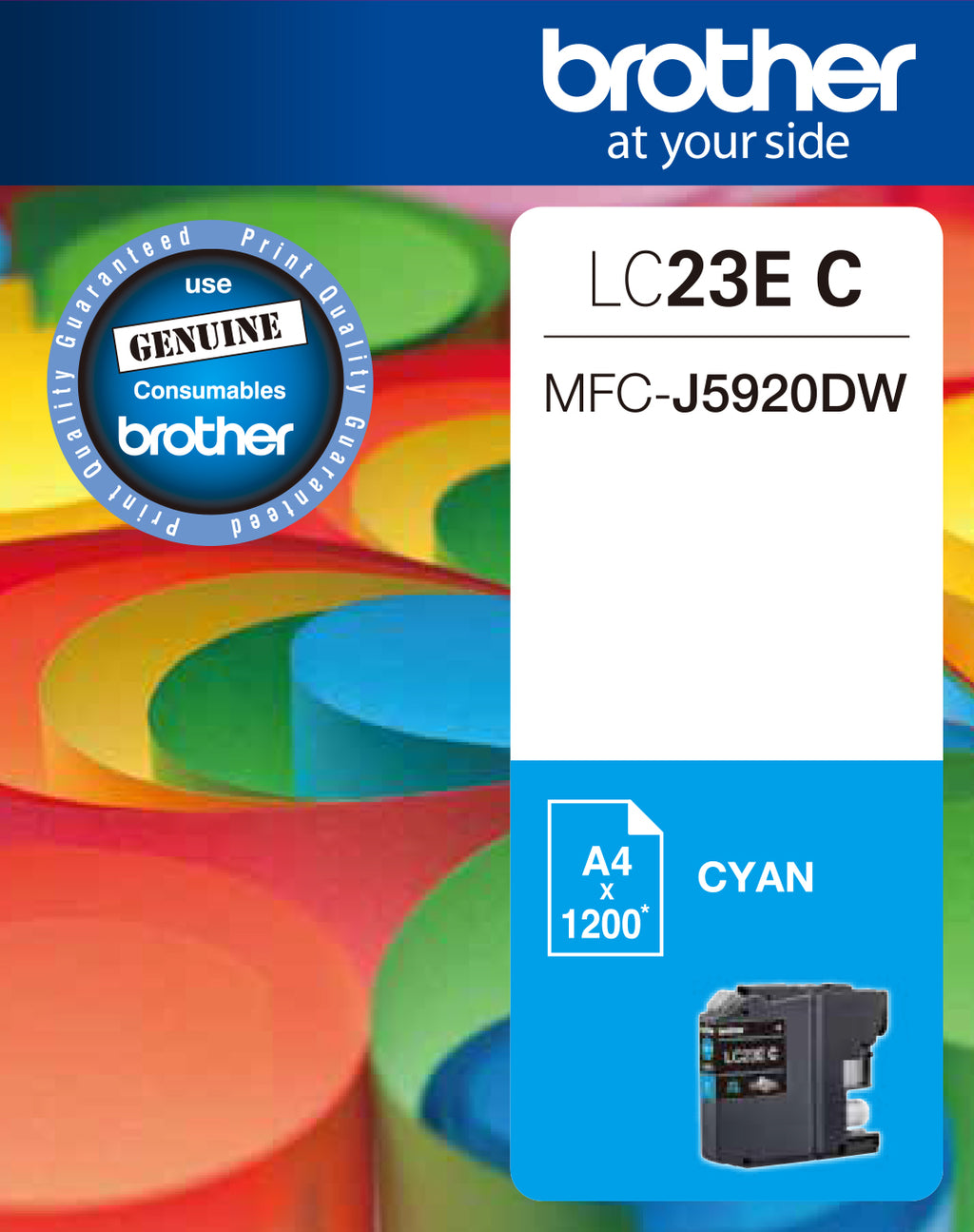 Brother LC23E Cyan Ink Cart - Out Of Ink