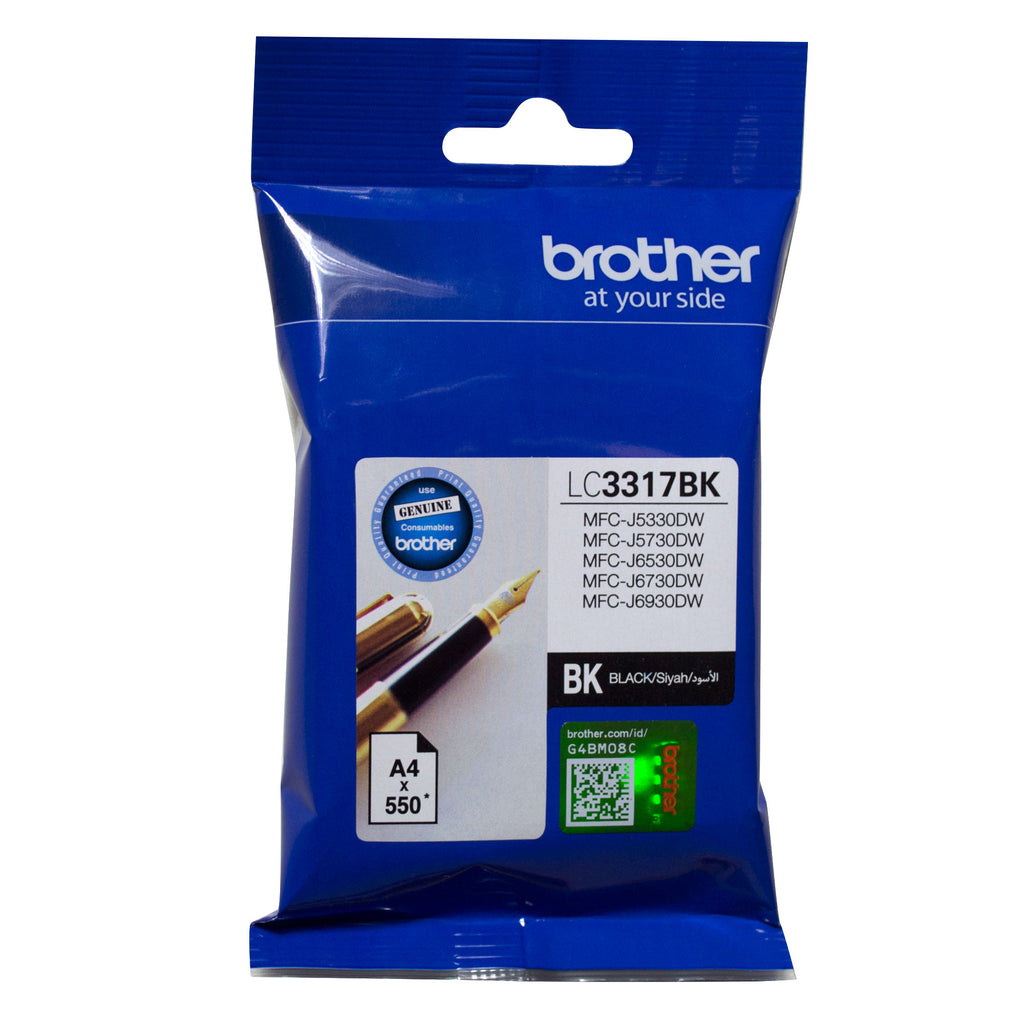 Brother LC3317 Black Ink Cart - Out Of Ink