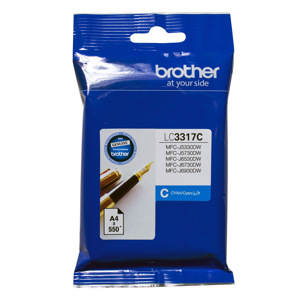 Brother LC3317 Cyan Ink Cart - Out Of Ink
