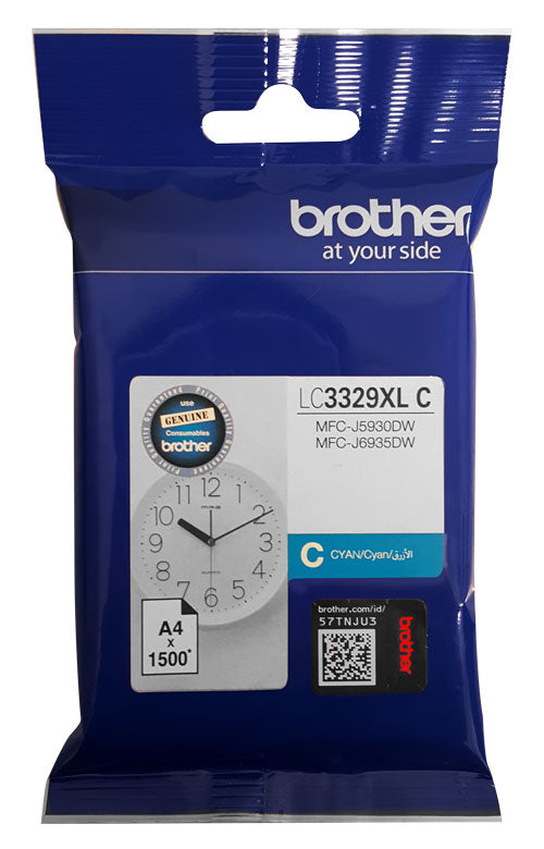Brother LC3329XL Cyan Ink - Out Of Ink